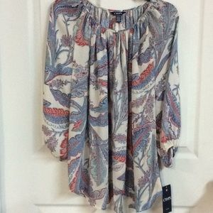 💥New Chaps Paisley Blouse ladies 1X Plus🆕